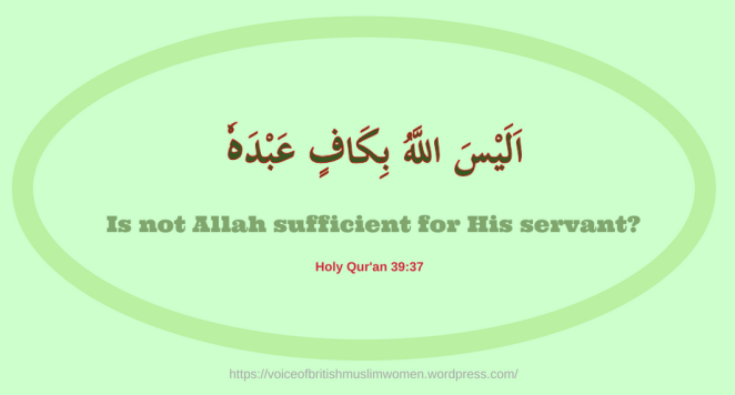 Is not Allah sufficient for His servant-BLOG