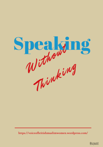 Speaking Without Thinking blog